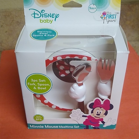 Minnie Mouse Disney Baby Mealtime Set New 😻